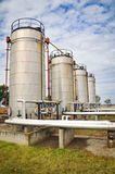 De verwerkingsinstallatie van de olie en van het gas Royalty-vrije Stock Afbeeldingen