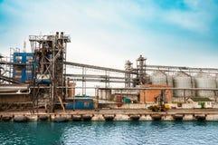 De verwerkingsinstallatie van de olie en van het gas Royalty-vrije Stock Fotografie