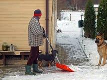 De verwijdering van de sneeuw Royalty-vrije Stock Foto