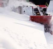 De verwijdering van de sneeuw stock fotografie