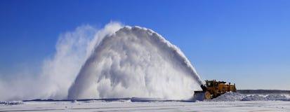 De Verwijdering van de Sneeuw van de luchthaven Stock Foto