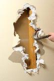De verwijdering van Sheetrock stock fotografie