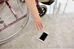 De verwijdering van de telefoon uit de vloer royalty-vrije stock afbeelding