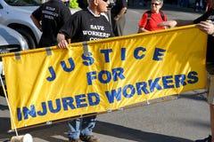 De verwonde Rechten van Arbeiders Stock Foto
