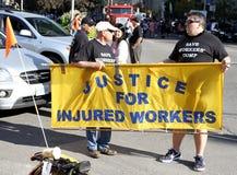De verwonde Rechten van Arbeiders Royalty-vrije Stock Afbeeldingen