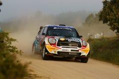 De Verzameling D'Italia Sardegna van WRC 2011 - ARAUJO Royalty-vrije Stock Afbeelding