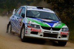 De Verzameling D'Italia Sardegna van WRC 2011 - FRISIERO Royalty-vrije Stock Afbeelding