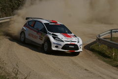 De Verzameling D'Italia Sardegna van WRC 2011 - TANAK Royalty-vrije Stock Foto