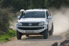 De Verzameling D'Italia Sardegna van WRC 2012 - VW AMAROK Stock Afbeelding