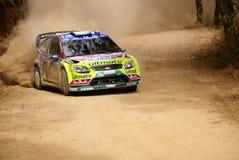 De Verzameling Mexico 2010 Mikko Hirvonen van de Corona WRC Royalty-vrije Stock Fotografie