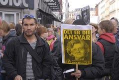 De verzameling van het protest in Denemarken Stock Afbeelding