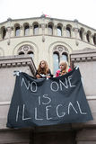 De verzameling van vluchtelingsrechten Stock Afbeeldingen