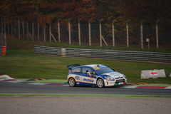 De verzamelingsauto van Citroën C4 WRC in Monza Stock Afbeeldingen