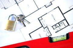 De verzekering en de veiligheid van het huis stock foto