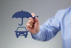 De Verzekering van de auto stock afbeelding