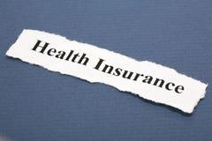 De Verzekering van de gezondheid Royalty-vrije Stock Foto's
