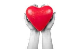 De verzekering van de gezondheid of liefdeconcept Stock Fotografie