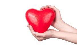 De verzekering van de gezondheid of liefdeconcept Stock Foto's