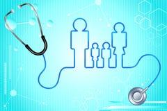 De Verzekering van de Gezondheid van de familie vector illustratie