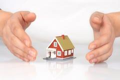 De verzekering van het huis. royalty-vrije stock fotografie