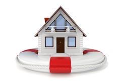 De verzekering van het huis - Reddingsboei - Pictogram Royalty-vrije Stock Afbeeldingen
