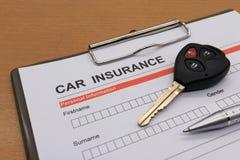De verzekering van motorvoertuigen Royalty-vrije Stock Fotografie