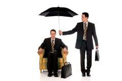De verzekeringsagent van de zakenman Stock Afbeelding