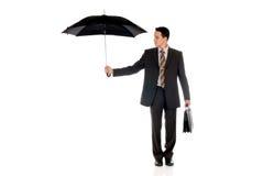 De verzekeringsagent van de zakenman Royalty-vrije Stock Afbeeldingen