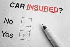 De verzekeringsconcept van de auto Royalty-vrije Stock Afbeeldingen