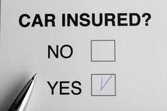 De verzekeringsconcept van de auto Royalty-vrije Stock Foto's