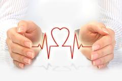 De verzekeringsconcept van de gezondheid. Stock Afbeelding