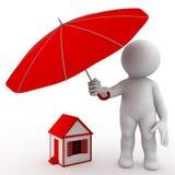 De verzekeringsconcept van het landgoed vector illustratie