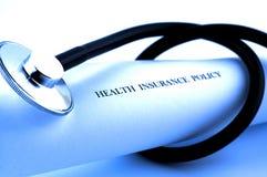 De verzekeringspolis van de gezondheid Stock Afbeeldingen