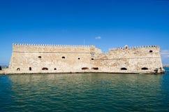 De vesting bij de stad van Heraklion Stock Afbeelding
