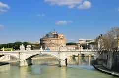 De rivier van Tiber in Rome Royalty-vrije Stock Foto's