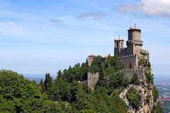 De vesting Italië van Guaita San Marino van Roccadella royalty-vrije stock foto