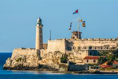 De vesting op de kust van Havana stock fotografie