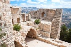 De vesting van Ajloun. Het fort van Arabier en van kruisvaarders Stock Afbeeldingen