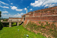 De vesting van Belgrado en Kalemegdan-park royalty-vrije stock afbeeldingen