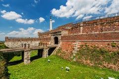 De vesting van Belgrado en Kalemegdan-park stock foto's