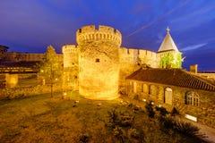 De vesting van Belgrado en Kalemegdan-park royalty-vrije stock fotografie