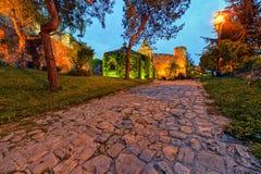 De vesting van Belgrado en Kalemegdan-park royalty-vrije stock foto's