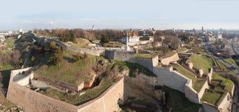 De vesting van Belgrado, luchtmening Stock Foto's