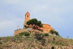 De vesting van Castillo Santuriano Cullera, Spanje royalty-vrije stock foto's