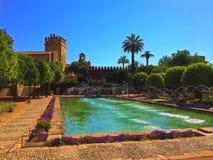 De Vesting van de Christen, zar DE los Reyes Cristianos, Cordoba, Spanje van Alcà ¡ stock fotografie