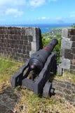 De Vesting van de Heuvel van de zwavel - Heilige Kitts stock foto