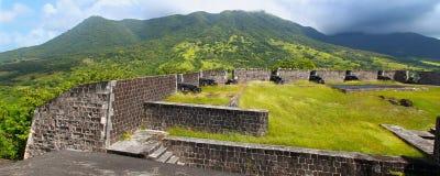 De Vesting van de Heuvel van de zwavel - St Kitts royalty-vrije stock foto's