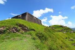 De Vesting van de Heuvel van de zwavel - St Kitts stock foto's