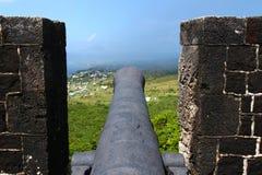 De Vesting van de Heuvel van de zwavel - St Kitts stock fotografie