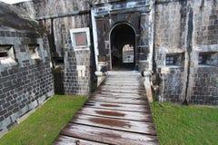 De Vesting van de Heuvel van de zwavel - St Kitts stock foto